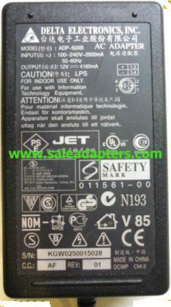 DELTA ADP-50XB AC ADAPTER 12V 4160mA For Megavision MV140 MV151
