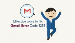Effective ways to fix Gmail error code 3253