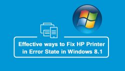 Effective ways to fix HP Printer in error state in Windows 8.1