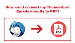 How can I convert my Thunderbird Emails directly to PDF?