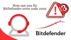 How can you fix BitDefender error code 1002?