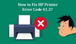 How to Fix HP Printer Error Code 41.3?