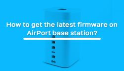 How to get the latest firmware on AirPort base station?