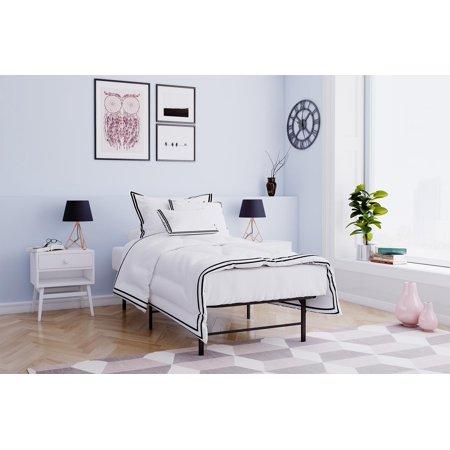 Mainstays Metal Platform Bed Frame/Foundation, Black, Multiple Sizes – Walmart.com