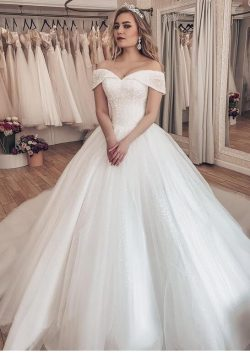 Luxus Brautkleider Prinzessin | Weiße Hochzeitskleider Mit Schleppe