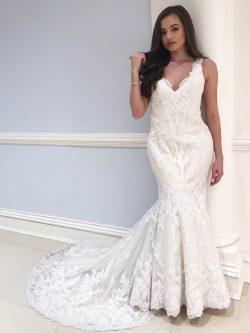 Elegnate Brautkleider Meerjungfrau | Spitze Hochzeitskleider Online