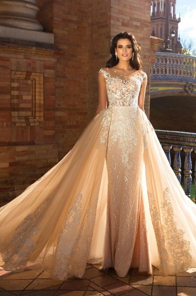 Elegante Brautkleider Mit Spitze | Hochzeitskleider A Linie Online