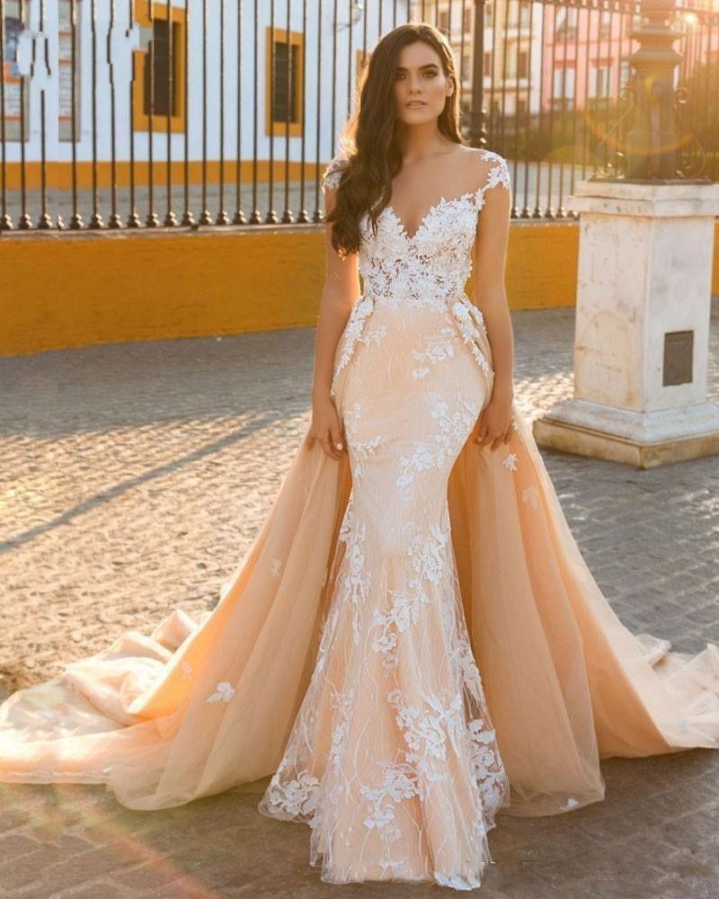 Designer Brautkleider A Linie | Hochzeitskleider Mit Spitze Online