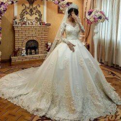 Fashion Hochzeitskleider Mit Ärmel Spitze | Brautkleid A Linie