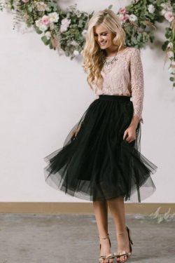 Schlichte Brautkleider Kurz | Hochzeitskleider Weiß Schwarz Mit Ärmel