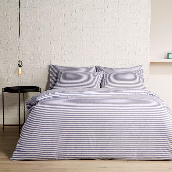 Christy Pyjama Stripe Bed Linen Indigo