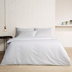 Christy Pyjama Stripe Bed Linen in Mineral
