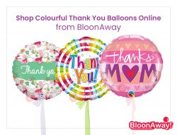 Shop Colourful Thank You Balloons Online from BloonAway