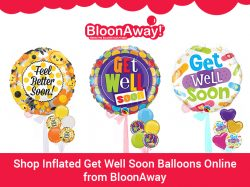 Shop Inflated Get Well Soon Balloons Online from BloonAway