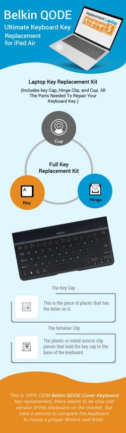 Shop Original Belkin QODE Ultimate Keyboard Keys Online from Replacement Laptop Keys