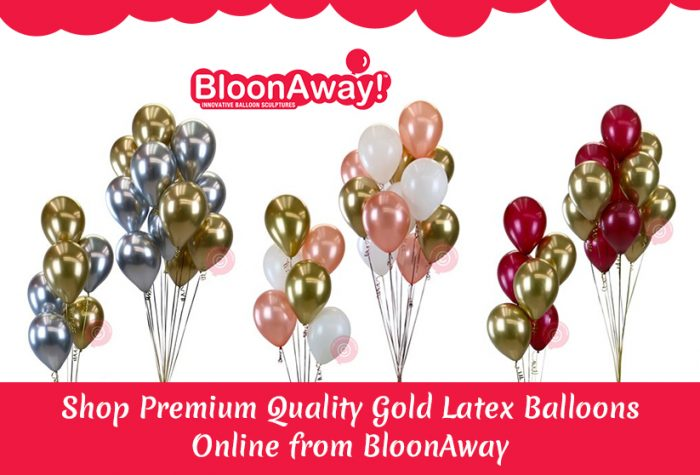 Shop Premium Quality Gold Latex Balloons Online from BloonAway