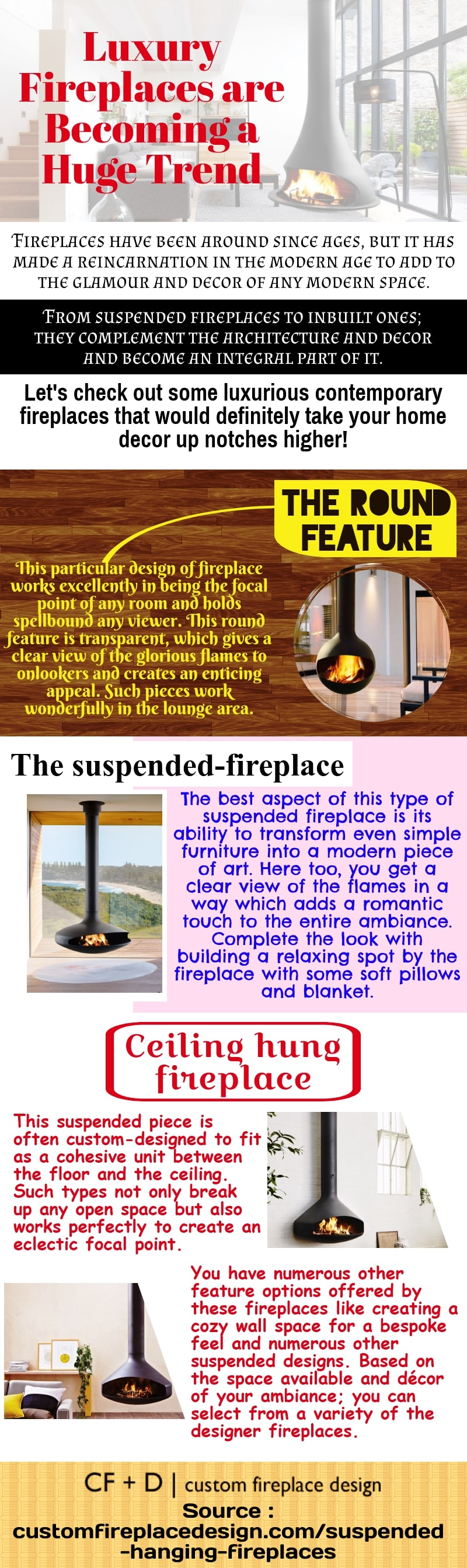 Modern fireplaces can actually take the decor of the room levels higher