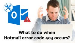 What to do when Hotmail error code 403 occurs?