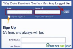 Why Facebook Toolbar does not stay logged on?