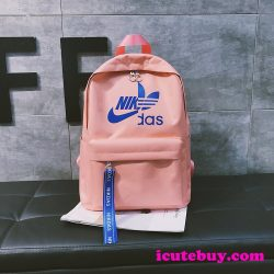 アディダス ナイキ コラボ リュックサック 通学バッグ 黒 赤 白 ピンク 四色 オシャレ