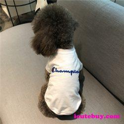 チャンピオン ドッグウェア Tシャツ Champion 犬服 可愛い ワンちゃん服 白 黒 夏用