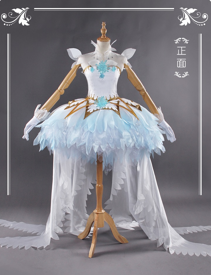 カードキャプターさくら 木之本 桜 ドレス ロリータ コスプレ衣装 透明カート