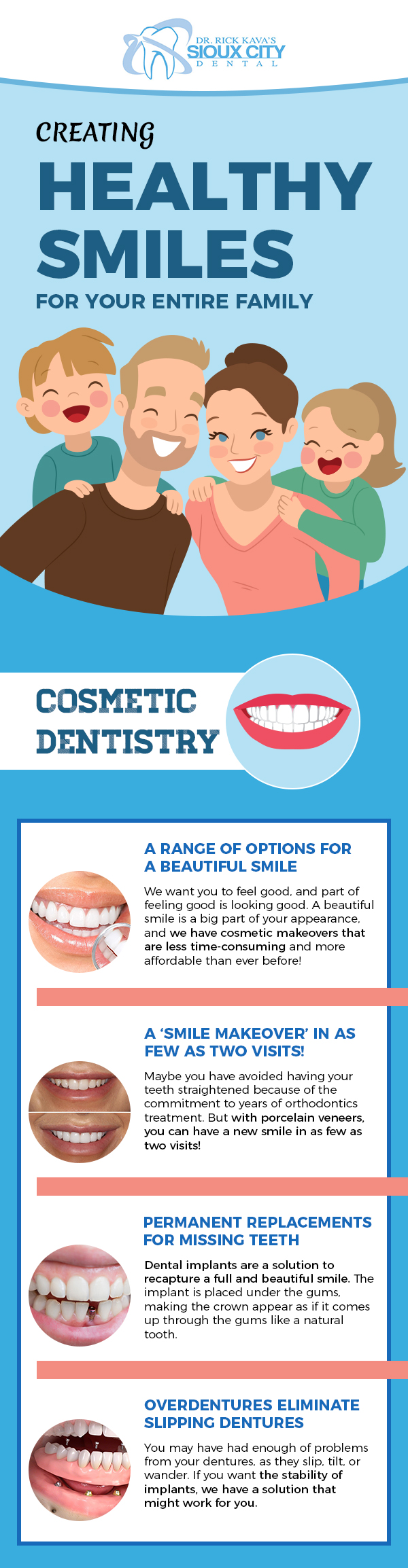 Brighten your Smile with Cosmetic Dentistry from Dr. Rick Kava's Sioux City Dental