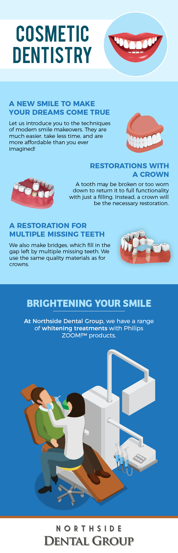 Contact Northside Dental Group for Modern Smile Makeovers with Cosmetic Dentistry