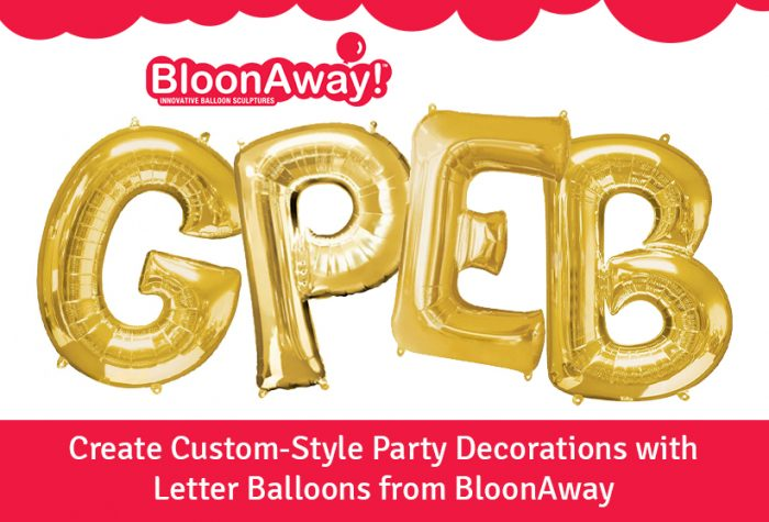 Create Custom-Style Party Decorations with Letter Balloons from BloonAway
