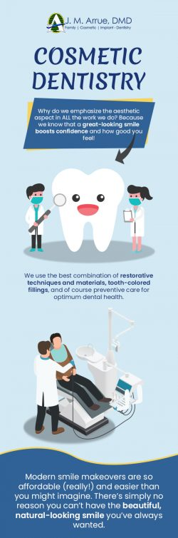 Get a Healthy Smile with Cosmetic Dentistry from J.M. Arrue, DMD