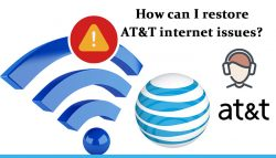 How can I restore AT&T internet issues?