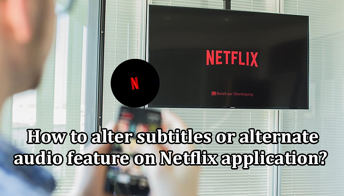 How to alter subtitles or alternate audio feature on Netflix application?