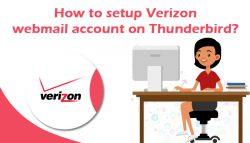 How to setup Verizon webmail account on Thunderbird?