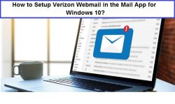 How to Setup Verizon Webmail in the Mail App for Windows 10?