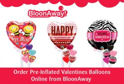 Order Pre-Inflated Valentines Balloons Online from BloonAway