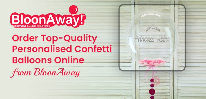 Order Top-Quality Personalised Confetti Balloons Online from BloonAway