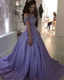 Lavender Abendkleider Lang Günstig | Abendmoden Mit Spitze