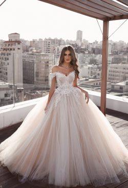 Elegante Brautkleid A Linie | Weiße Hochzeitskleider Günstig Online