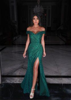 Fashion Abendkleider Spitze Grün | Abiballkleider Lang Günstig