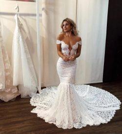 Sexy Brautkleid Meerjungfrau | Hochzeitskleider mit Spitze Online