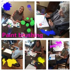 Painitng Competition at Season's Alzheimer's Care and Assisted Living
