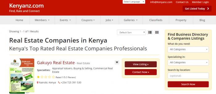 Real Estate Companies in Kenya
