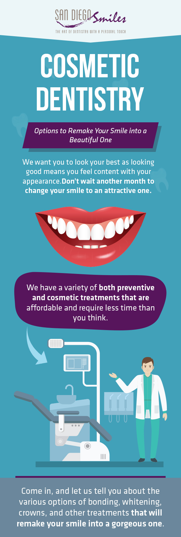 Remake Your Smile into New One with Cosmetic Dentistry from San Diego Smiles