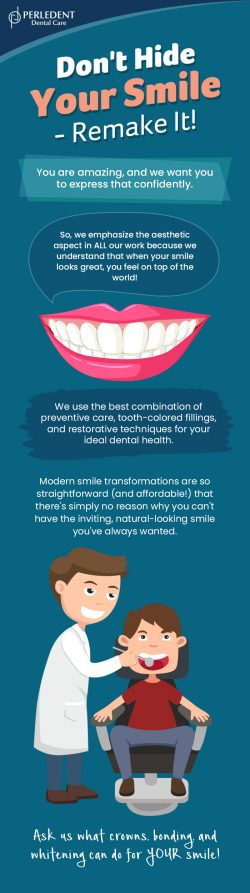 Remake Your Smile with Cosmetic Dentistry from Perledent Dental Care