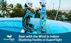 Soar with the Wind in Indoor Skydiving Facility at SuperFlight