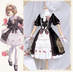 カードキャプターさくら 木之本 桜 洋服 ロリータ コスプレ衣装