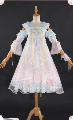 カードキャプターさくら 木之本 桜 洋服 中国風 ロリータ コスプレ衣装