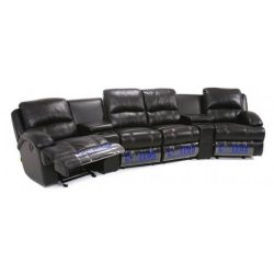 Arboga 6 Piece Leather Theatre Lounge Suite – Furniture Perth