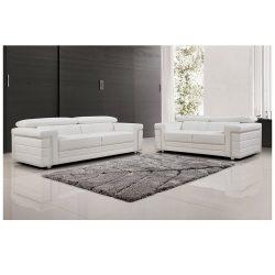 Beautiful 3+2 Seater White Lounge – Furniture Perth