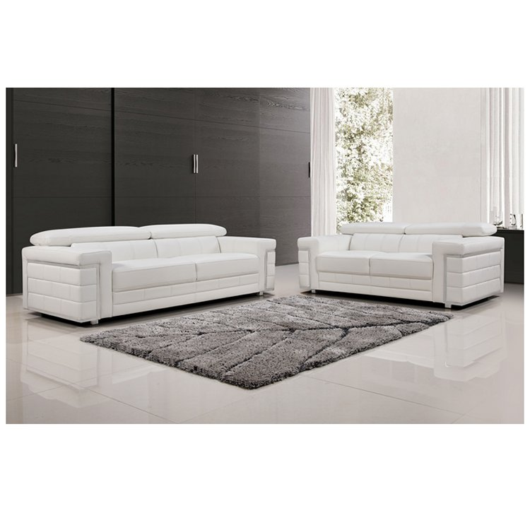Beautiful 3+2 Seater White Lounge – Furniture Perth